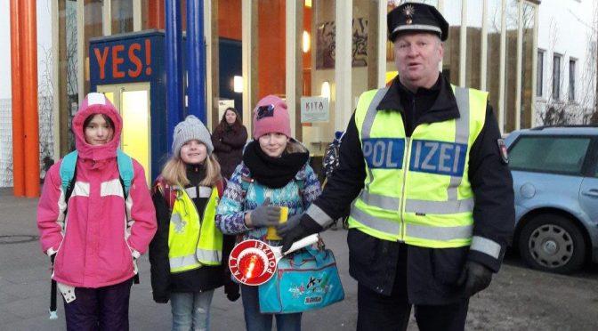 "07.02.2018 – Aktion ""Sicherer Schulweg"""